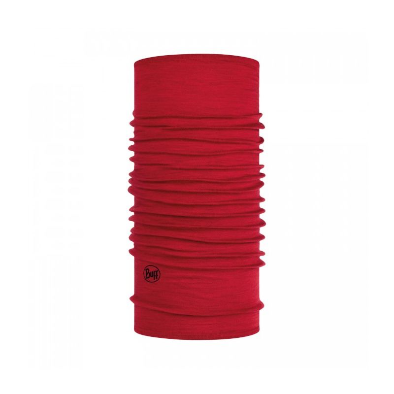 Buff Light Weight merino wool Solid red Buff - 1