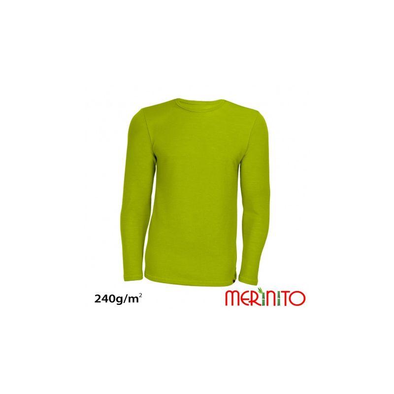 """Tricou barbatesc Merinito, merino+bambus 240g """"Limoncello"""" Merinito - 1"""