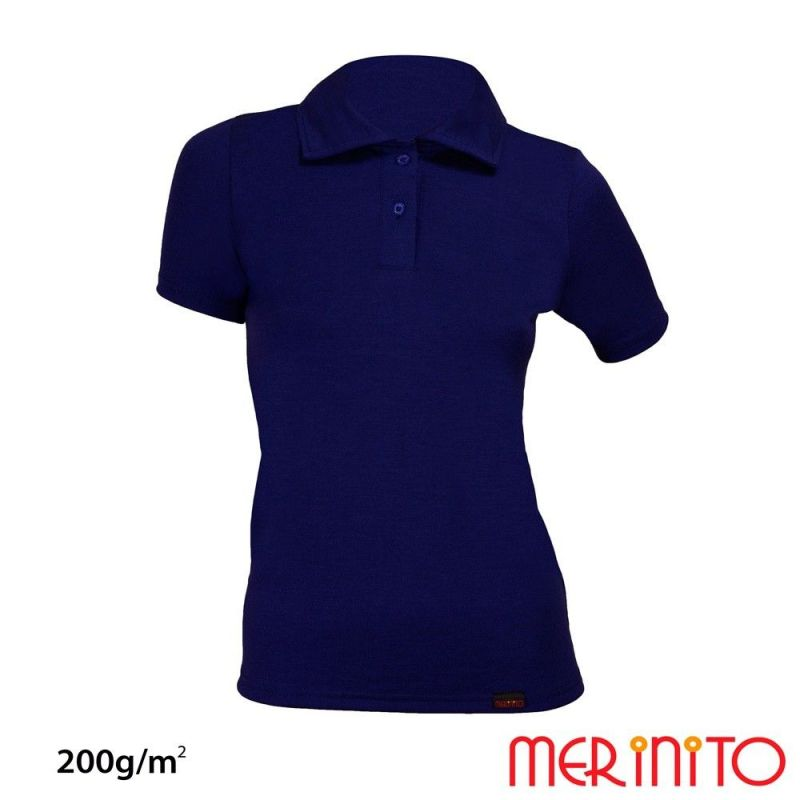 """Tricou de dama Merinito """"Polo Jersey Anthracite"""" 200g Merinito - 1"""