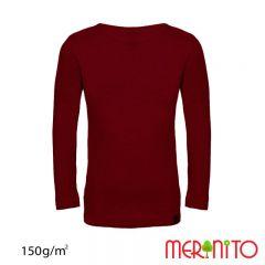 Tricou maneca lunga Merinito pentru copii merino si modal