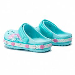 Slapi Crocs FL Mermaid Band Clog Ice Blue Crocs - 2
