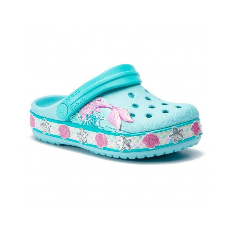 Slapi Crocs FL Mermaid Band Clog Ice Blue Crocs - 1