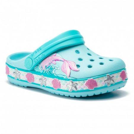 Slapi Crocs FL Mermaid Band Clog Ice Blue Crocs - 1