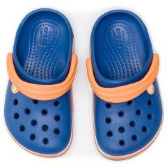 Slapi Crocs Crocband Wavy Band Clog K Blue Jeans Crocs - 2