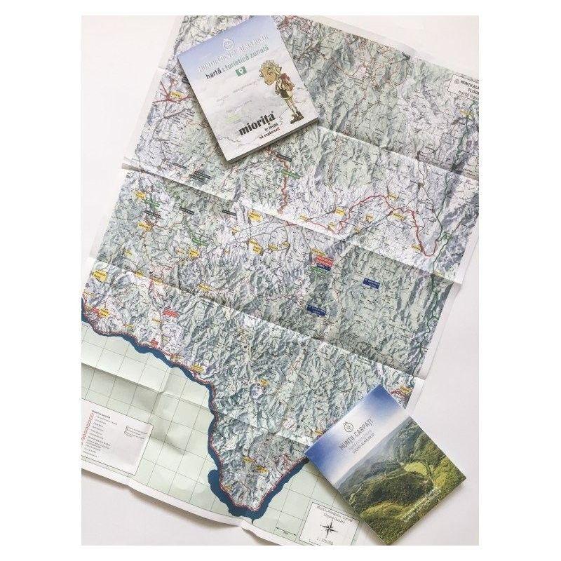 Harta de drumete Muntii Almajului Miorita - 1