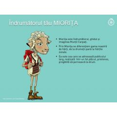 Harta de turistica zonala Muntii Fagaras Miorita - 2