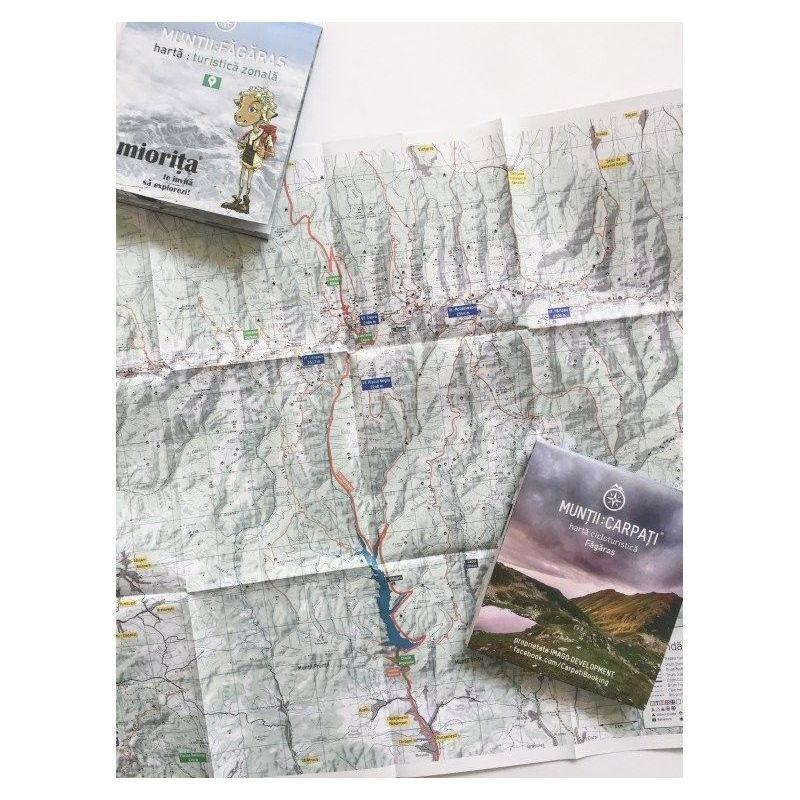 Harta de turistica zonala Muntii Fagaras Miorita - 1