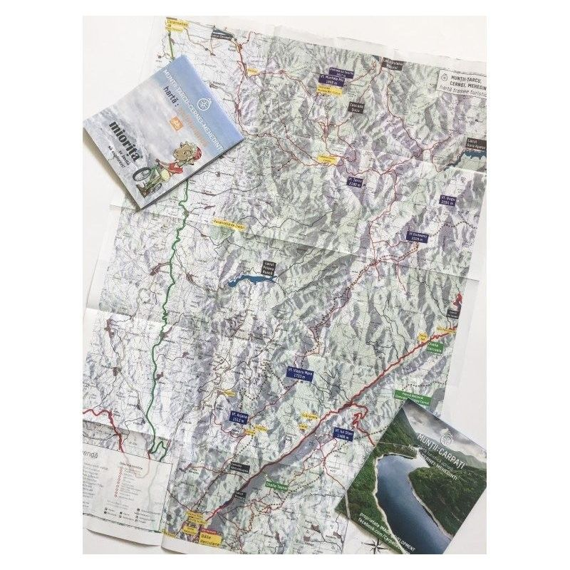 Harta de drumetie Muntii Tarcu-Cernei