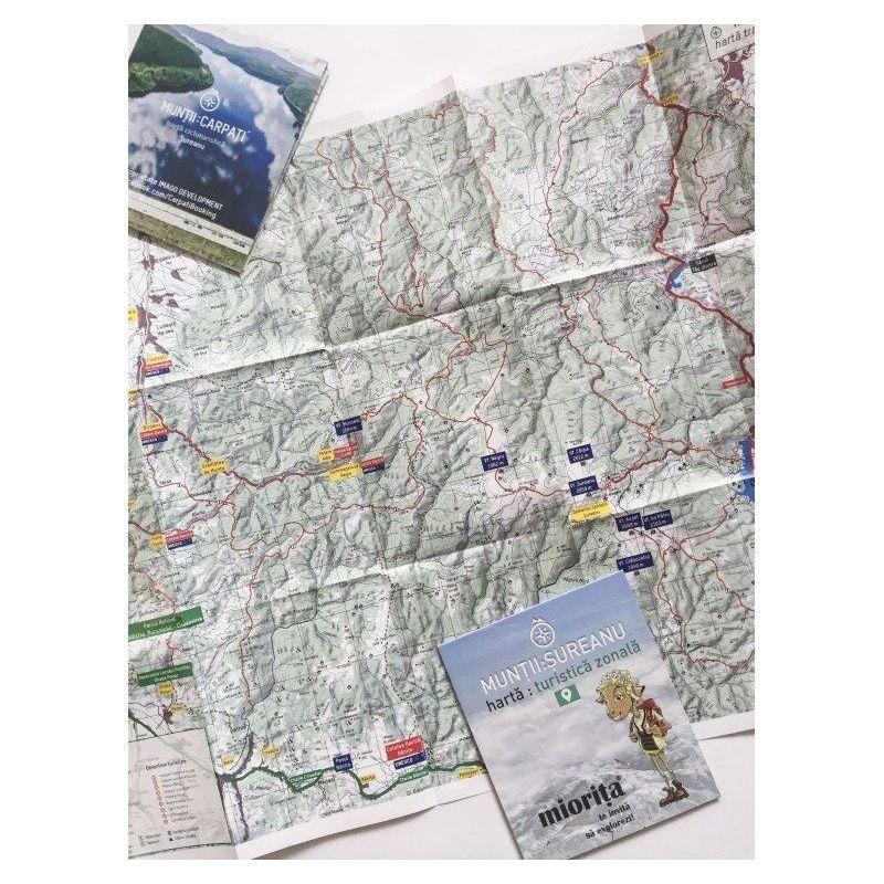 Harta de drumetie Muntii Sureanu