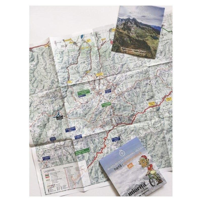 Harta de drumetie Muntii Retezat-Godeanu
