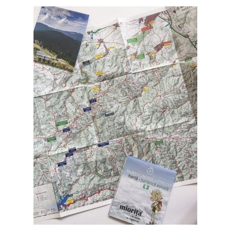 Harta de drumetie Muntii Cindrel