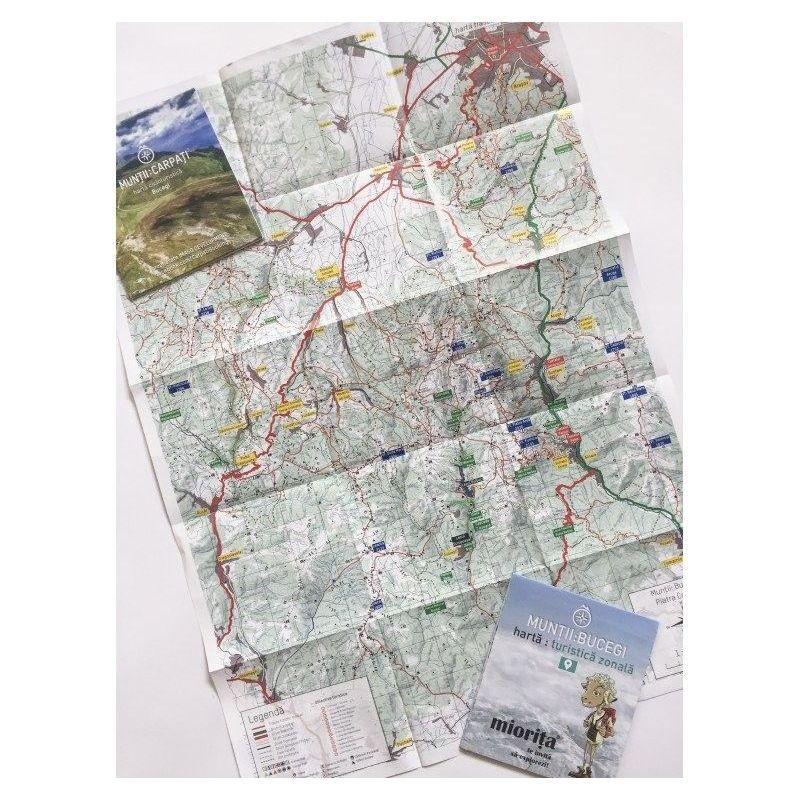 Harta de drumetie Muntii Bucegi
