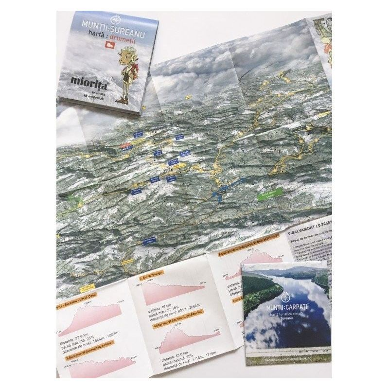 Harta cicloturistica Muntii Sureanu Miorita - 1